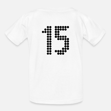 Back Number Footballers 15, Numbers, Football Numbers, Jersey Numbers - Kids' T-Shirt