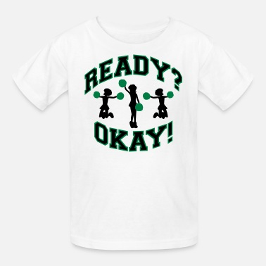 Changeable Color Cheer! Green and Black (Changeable Colors) - Kids' T-Shirt