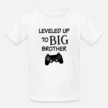 Leveled up to Big Brother Shirt Video Game Funny  - Kids' T-Shirt