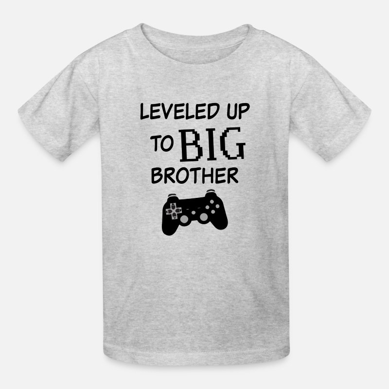 a9786360 Leveled up to Big Brother Shirt Video Game Funny Kids' T-Shirt | Spreadshirt