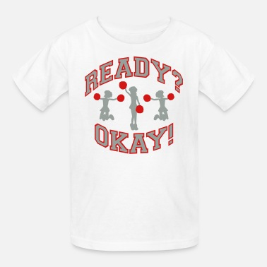 Changeable Color Cheer! Red and Gray (Changeable Colors) - Kids' T-Shirt