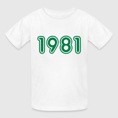 1981, Numbers, Year, Year Of Birth - Kids' T-Shirt