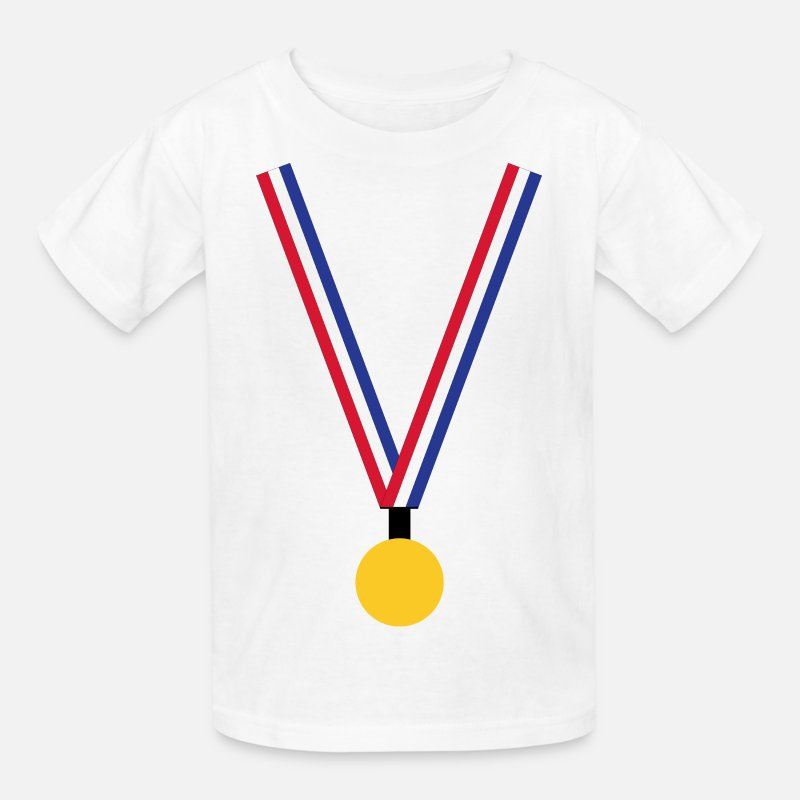 Netherlands T-Shirts - Gold Medal - Kids' T-Shirt white