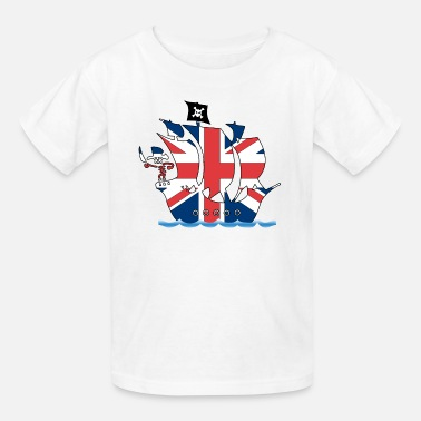 pirate_ship_uk - Kids' T-Shirt