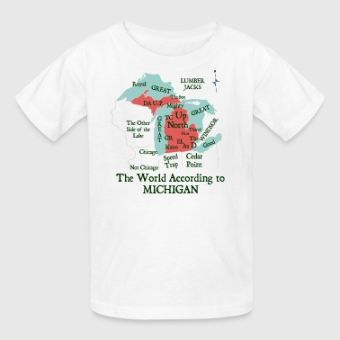 The World According To Michigan Shirt Clothing Tee - Kids' T-Shirt
