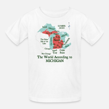 Awesome Detroit The World According To Michigan Shirt Clothing Tee - Kids' T-Shirt