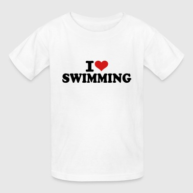 I love Swimming - Kids' T-Shirt