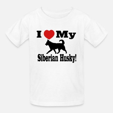 I Love My Siberian Husky I Love my Siberian Husky - Kids' T-Shirt