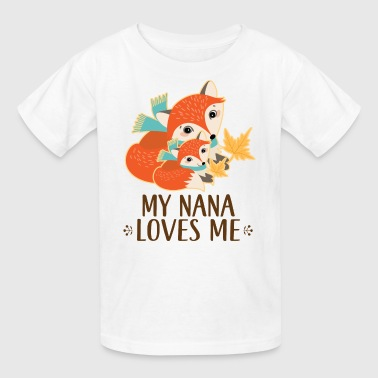 Nana Nana Loves Me Woodland Fox - Kids' T-Shirt