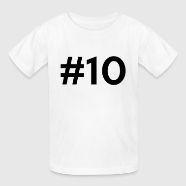 Team Ten #10 (number ten) - Kids' T-Shirt