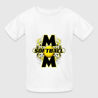 Softball Mom cute floral design - Kids' T-Shirt