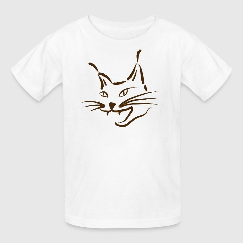 lynx cougar lion wildcat bobcat cat wild hunter hunt hunting - Kids' T-Shirt