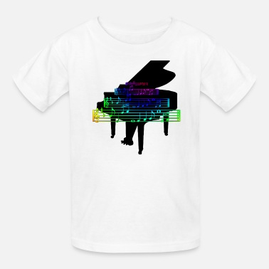 Treble Clef Piano Pianist Music Notes Keyboard T shirt - Kids' T-Shirt