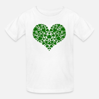 3a2f76302 St Patricks Day Shamrock Heart - Kids' T-Shirt