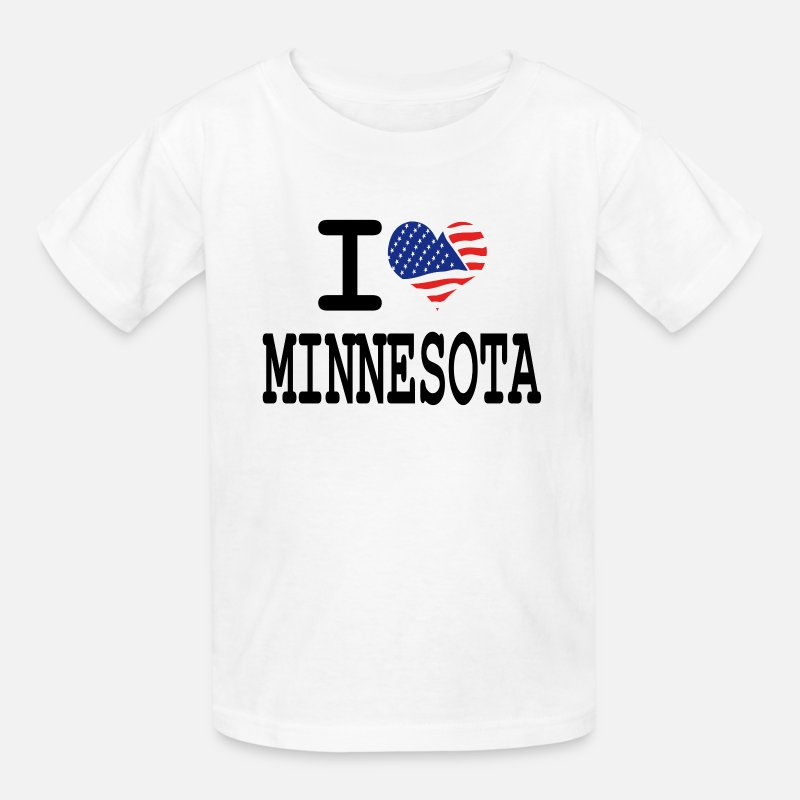 America T-Shirts - i love minnesota - Kids' T-Shirt white