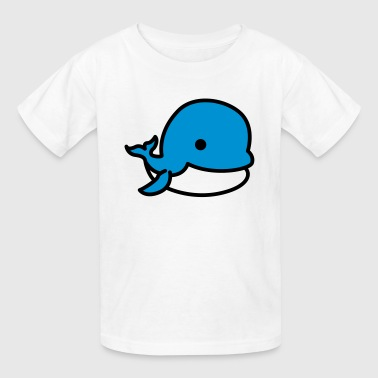 Cartoon Whale - Kids' T-Shirt