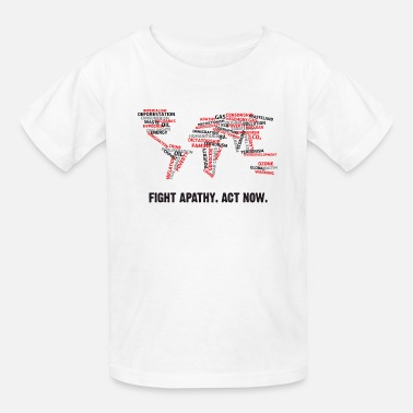 Democracy Now Fight apathy. Act Now! - Kids' T-Shirt