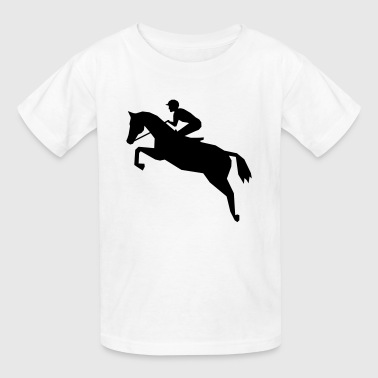 Jockey - horse racing - Kids' T-Shirt
