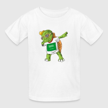 Saudi Arabia Dabbing Turtle - Kids' T-Shirt