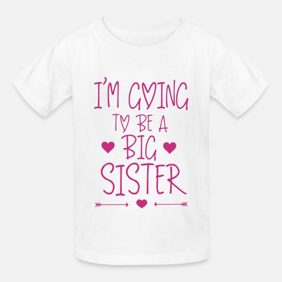 Sister T-Shirts - I'm going to be a big sister - Kids' T-Shirt white