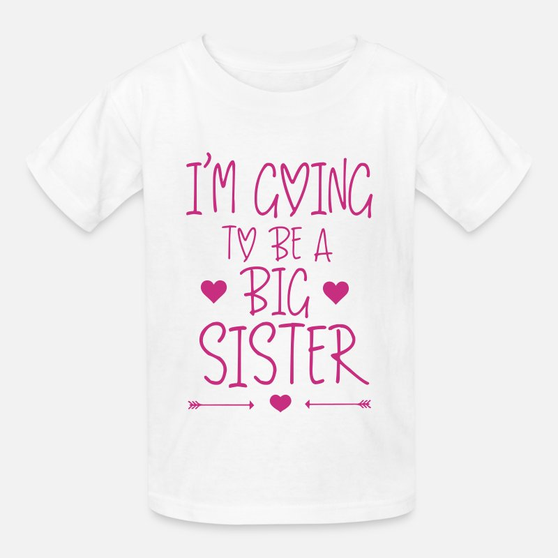 Pregnancy T-Shirts - I'm going to be a big sister - Kids' T-Shirt white