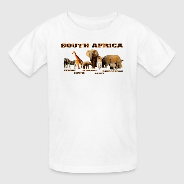 South African Wildlife Collage - Kids' T-Shirt