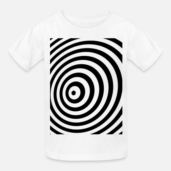 Impossible T-Shirts - Minimum Geometry Illusion in Black & White(OP-Art) - Kids' T-Shirt white
