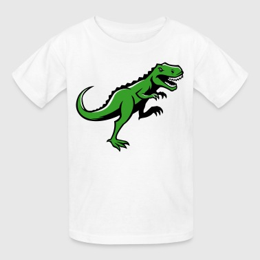 Angry T-Rex Running - Kids' T-Shirt