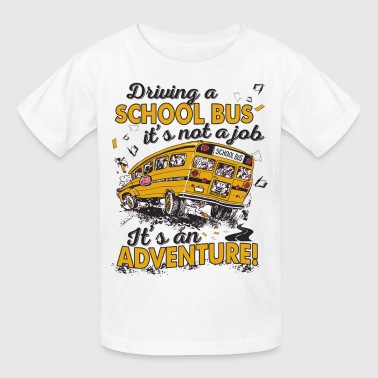 driving a school bus - Kids' T-Shirt
