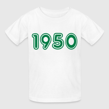 1950, Numbers, Year, Year Of Birth - Kids' T-Shirt