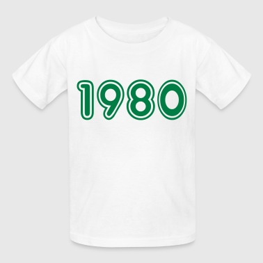 Year 1980 1980, Numbers, Year, Year Of Birth - Kids' T-Shirt