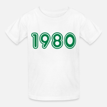 1980 Year 1980, Numbers, Year, Year Of Birth - Kids' T-Shirt