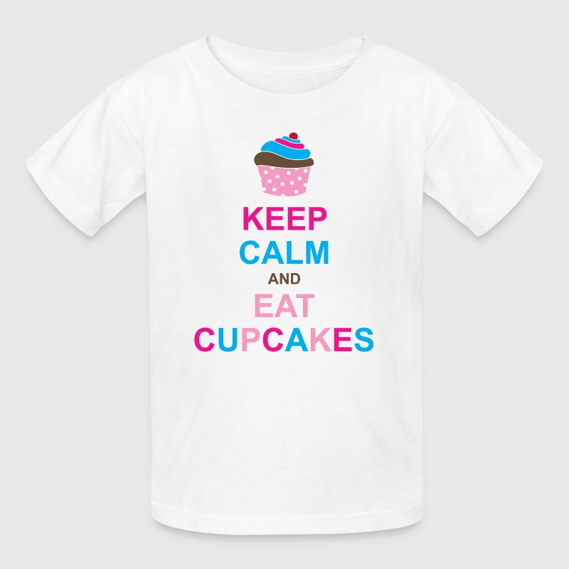 Keep Calm and Eat Cupcakes - Kids' T-Shirt