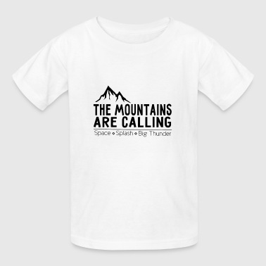 The Mountains Are Calling Space Splash - Kids' T-Shirt