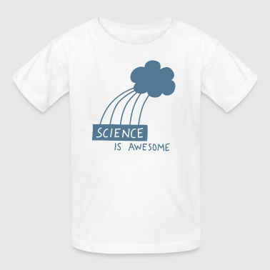 Science is Awesome - steel blue graphic - Kids' T-Shirt