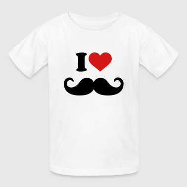I Love Mustache - Kids' T-Shirt