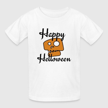 happy halloween,skull, halloween cute - Kids' T-Shirt
