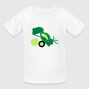 round baler farmer_p1 - Kids' T-Shirt