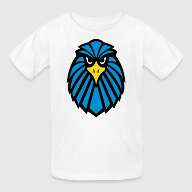 Blue Eagle Face Logo - Kids' T-Shirt
