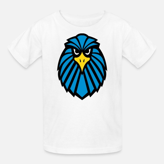 fde415019b0 Blue Eagle Face Logo Kids' T-Shirt   Spreadshirt