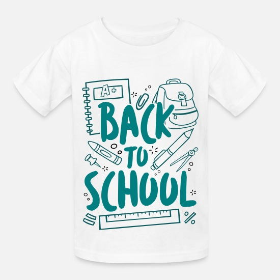 School T-Shirts - Back to School - Kids' T-Shirt white