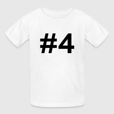 #4 (number four) - Kids' T-Shirt
