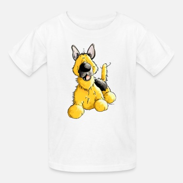 German Dog Happy German Shepherd Dog - Dogs - Kids' T-Shirt