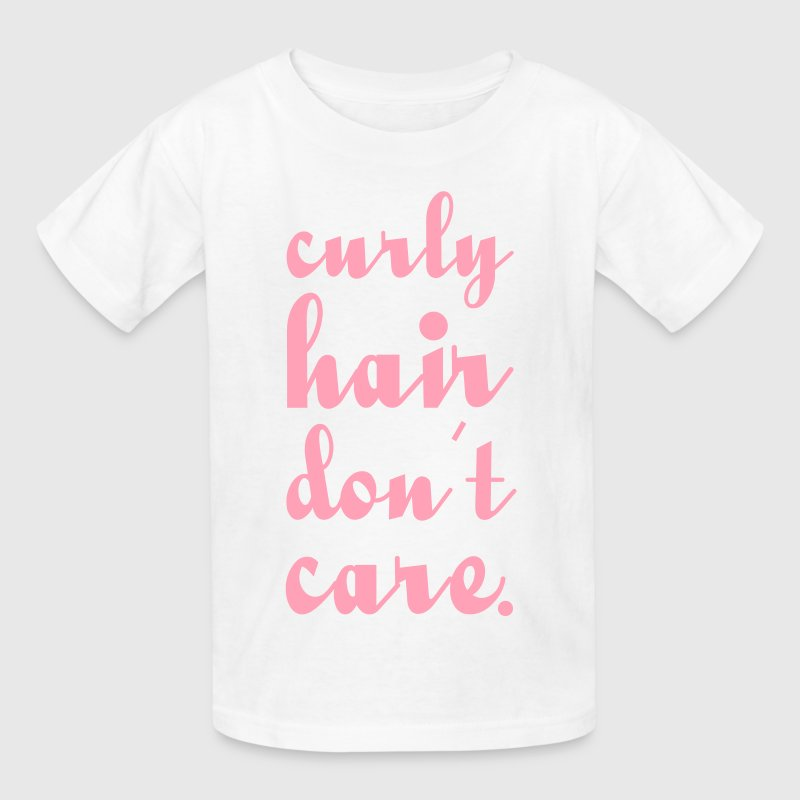 Curly hair don't care - Kids' T-Shirt