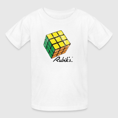 Rubik's Cube Solved Colourful Vintage - Kids' T-Shirt