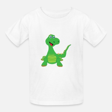 A Youtube Dinosaur Green Dinosaur - Kids' T-Shirt