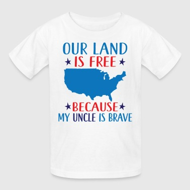 Military Uncle Support Patriotic - Kids' T-Shirt