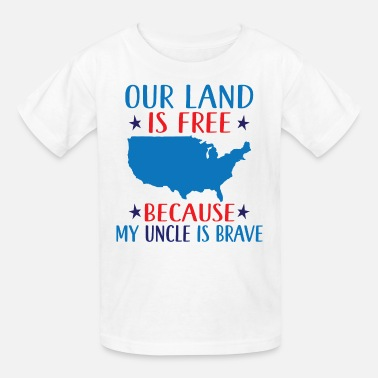 Military Support Military Uncle Support Patriotic - Kids' T-Shirt