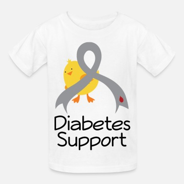 Diabetic Diabetes Support Chick - Kids' T-Shirt