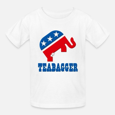 Liberal Savage Teabagger Republican Tea Party - Kids' T-Shirt